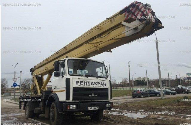 Аренда автовышки 22 метра в Минске и Беларуси